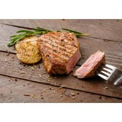 Стейк зі свининою та  картоплею з розмарином